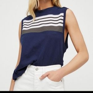 Free People color block tee shirt